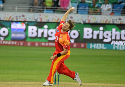 Watson in his delivery stride - PSL Islamabad United