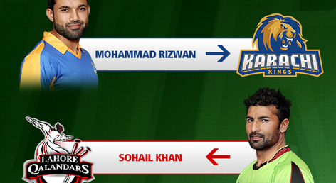 Karachi Kings trade Sohail Khan for Muhammad Rizwan