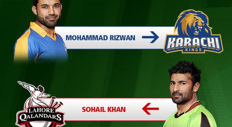 Karachi Kings trade Sohail Khan for Muhammad Rizwan
